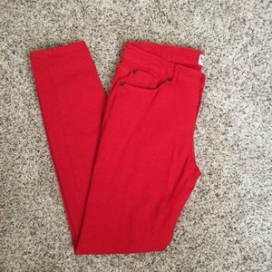 Denim - Red skinny Jeans
